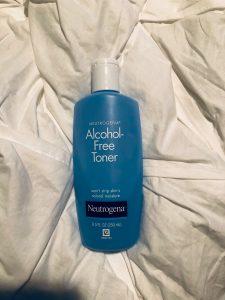 skin care routine toner