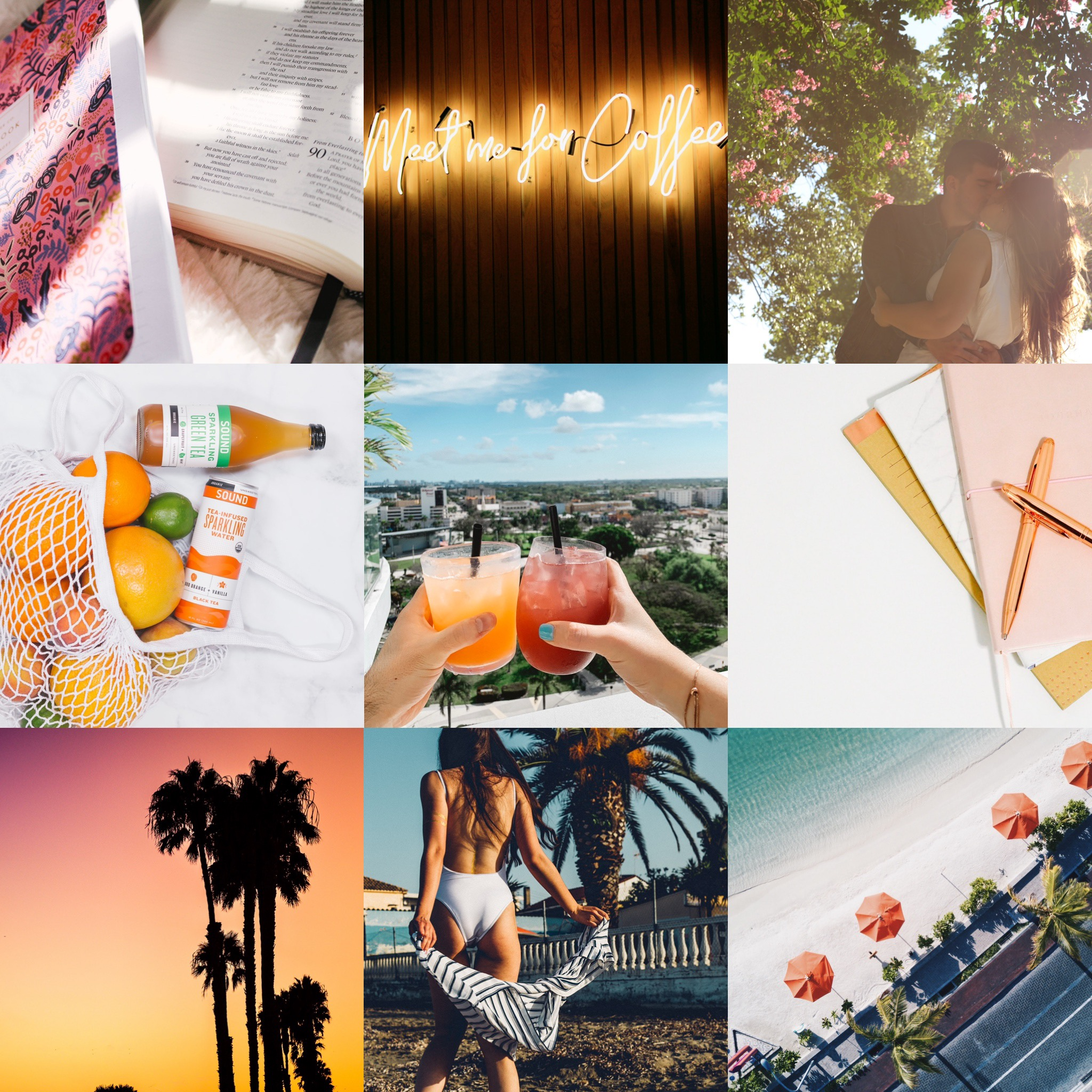 June mood board summer glow